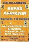 Repas africain Les Billanges 2009